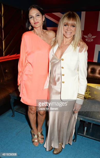 Yasmin Mills and Jo Wood attend their Summer Party at Boujis on July 9 2014 in London England