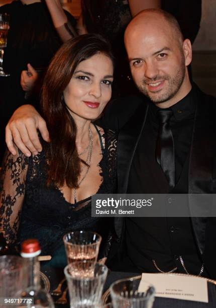 Yasmin Mills and Justin Horne attend a party to celebrate Nefer Suvio's birthday hosted by The Count and Countess Francesco Chiara Dona Dalle Rose at...