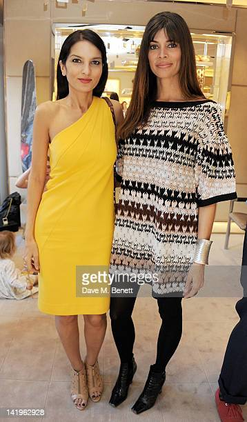 Yasmin Mills and Lisa Barbuscia aka Lisa B attend a children's afternoon tea party hosted by Roger Vivier to launch their new Jeune Fille collection...