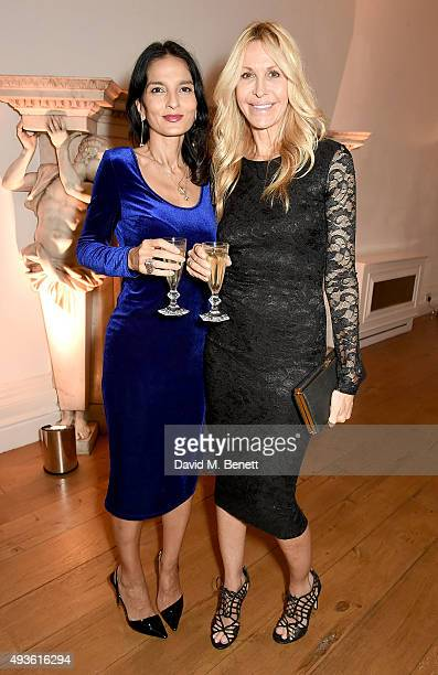 Yasmin Mills and Melissa Odabash attend the Baccarat/1 Hotel Dinner at One Horse Guards on October 21 2015 in London England