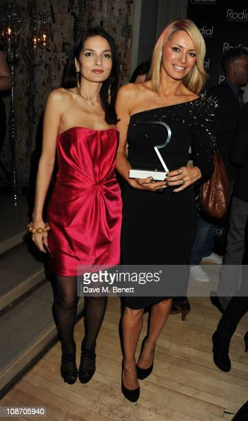 Yasmin Mills and Tess Daly attend the Rodial BEAUTIFUL Awards 2011 hosted by Yasmin Mills in aid of The Hoping Foundation at the Sanderson Hotel on...