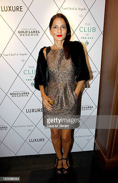 Yasmin Mills arrives at the Fearless Party with LUXURE Magazine at The Club at The Ivy on September 16 2012 in London England