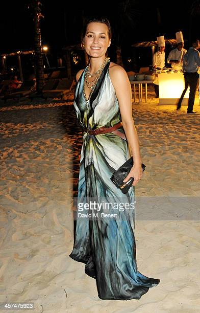 Yasmin Mills attends a private dinner hosted by Kelly Hoppen to celebrate her design of the exclusive resort LUX Belle Mare on December 17 2013 in...