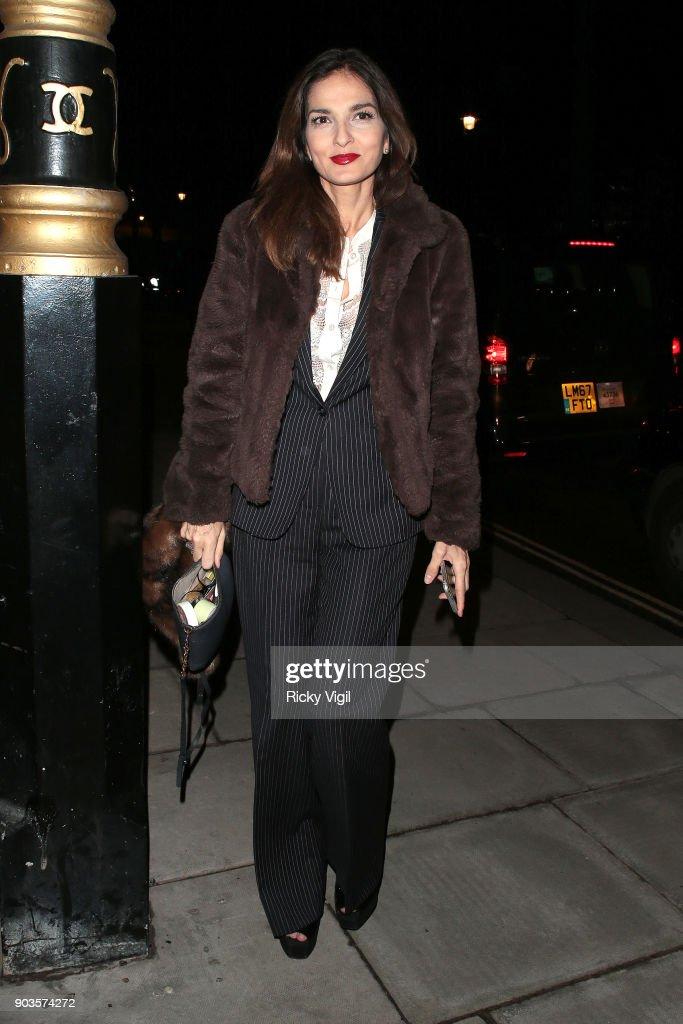 London Celebrity Sightings -  January 10, 2018