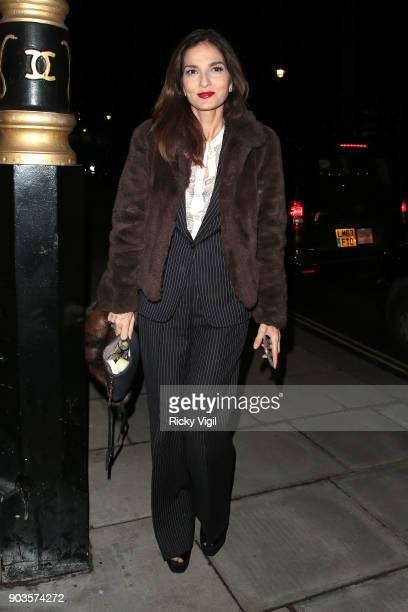 Yasmin Mills attends #megsmenopause at Home House on January 10 2018 in London England