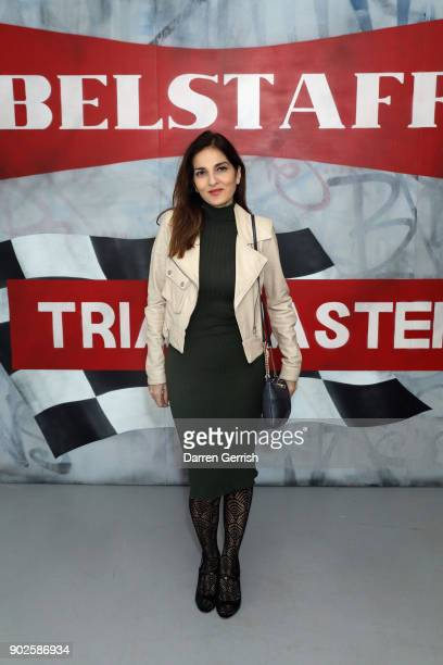 Yasmin Mills attends the Belstaff AW18 Mens Womens Presentation during London Fashion Week Men's January 2018 on January 8 2018 in London England