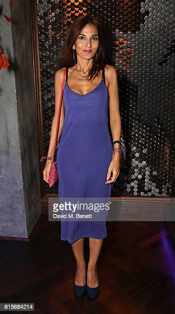 Yasmin Mills attends the launch of MNKY HSE latenight restaurant Mayfair on October 19 2016 in London England