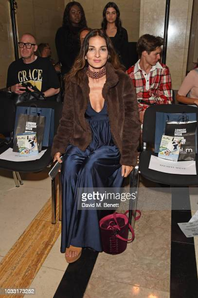 Yasmin Mills attends the Pam Hogg front row during London Fashion Week September 2018 at The Freemason's Hall on September 14 2018 in London England