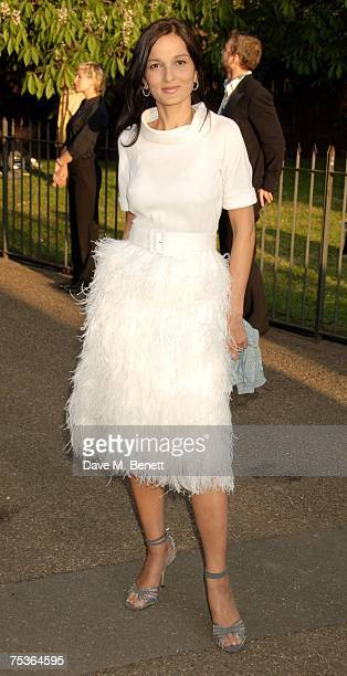 Yasmin Mills attends the Serpentine Summer Party at The Serpentine Gallery on July 11 2007 in London England