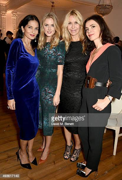 Yasmin Mills Donna Air Melissa Odabash and Lara Bohinc attend the Baccarat/1 Hotel Dinner at One Horse Guards on October 21 2015 in London England