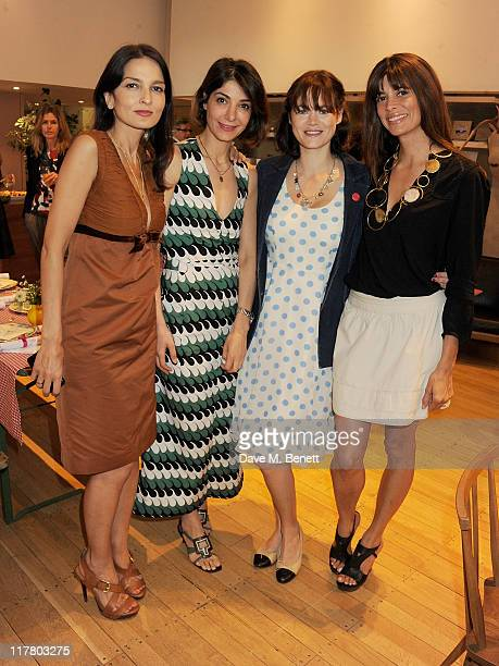 Yasmin Mills Eva Karayiannis Jasmine Guinness and Lisa B attend a charity lunch hosted by Caramel owner Eva Karayiannis in aid of Mothers4Children...