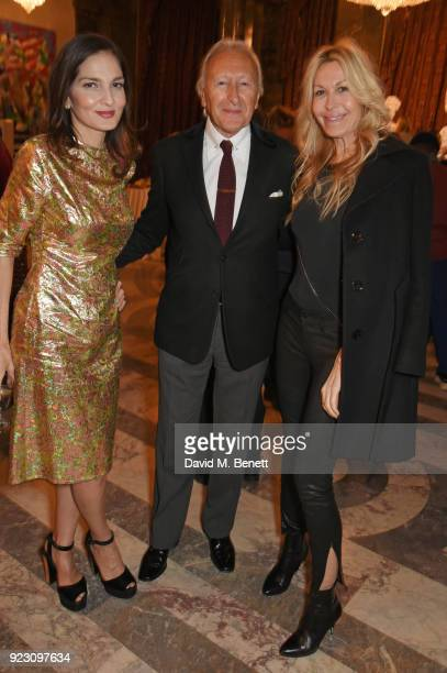 Yasmin Mills Harold Tillman and Melissa Odabash attend the VIP preview of the Commonwealth Fashion Exchange exhibition at the High Commission of...