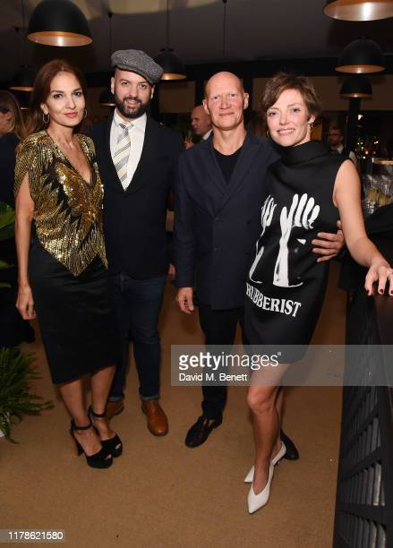Yasmin Mills Justin Horne Rufus Abbott and Camilla Rutherford attend the inaugural collaboration of OKA and Ron Arad during PAD London on October 02...