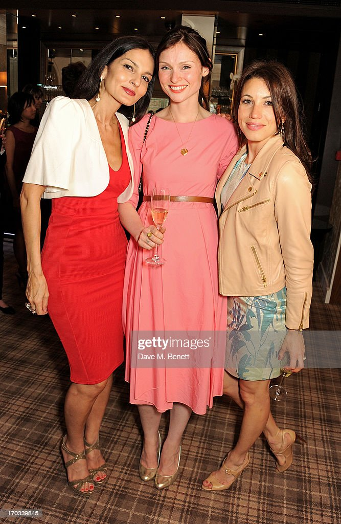 Yasmin Mills, Sophie Ellis-Bextor and Lauren Kemp attend a private dinner previewing the new 'Alex James Presents' Blue Monday cheese at The Cadogan Hotel on June 11, 2013 in London, England.