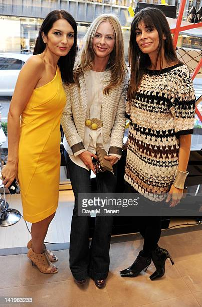 Yasmin Mills Trinny Woodall and Lisa Barbuscia aka Lisa B attends a children's afternoon tea party hosted by Roger Vivier to launch their new Jeune...