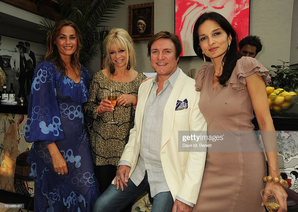 Yasmin Mills, Yasmin Le Bon, Jo Wood and Simon Le Bon attend the Mrs Paisley's Lashings private dinner on June 2, 2010 in London, England.