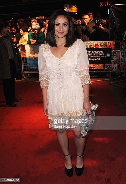 Yasmin Paige attends the 'Submarine' premiere during the 54th BFI London Film Festival at the Vue West End on October 22 2010 in London England