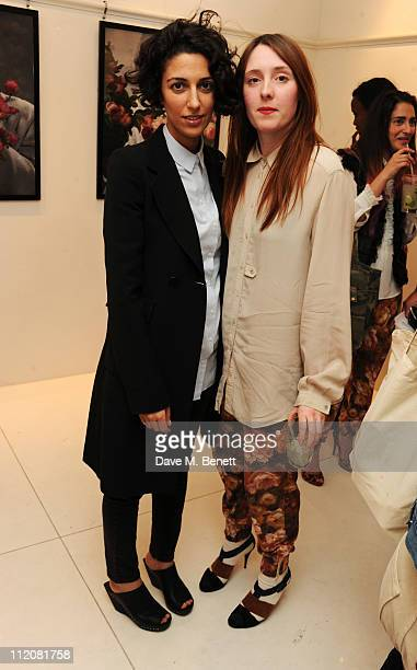 Yasmin Sewell and Amy Powney attend the launch of The Mother of Pearl MOP SHOP at the Other Criteria store on April 12 2011 in London England