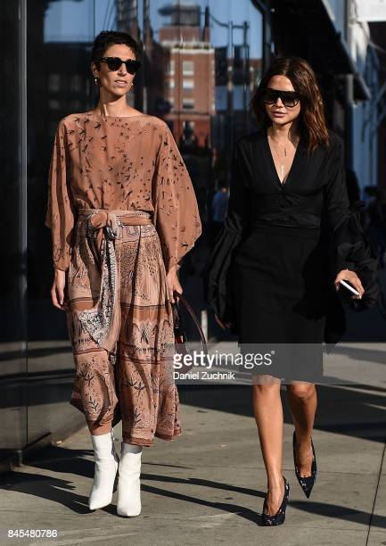 Yasmin Sewell and Christine Centenera are seen outside the DVF show during New York Fashion Week Women's S/S 2018 on September 10 2017 in New York...