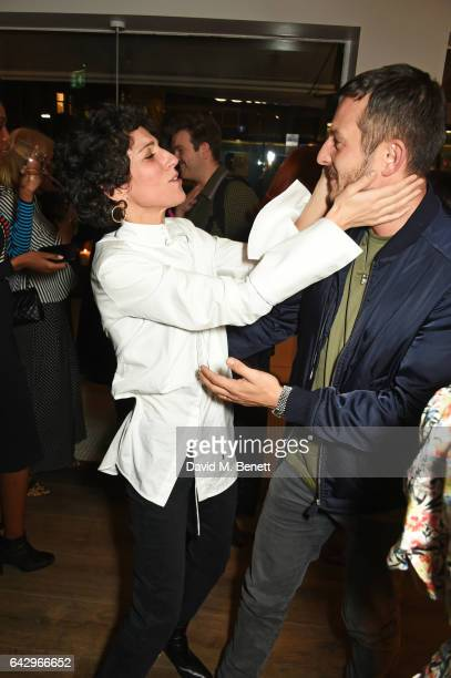 Yasmin Sewell and Jonathan Saunders arrive as Topshop and Leandra Medine host dinner to celebrate London Fashion Week on February 19 2017 in London...