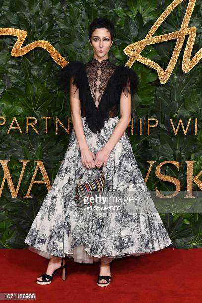 Yasmin Sewell arrives at The Fashion Awards 2018 In Partnership With Swarovski at Royal Albert Hall on December 10 2018 in London England