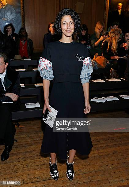 Yasmin Sewell attends the Vivienne Westwood LFW AW16 runway show at Royal College of Surgeons on February 21 2016 in London England