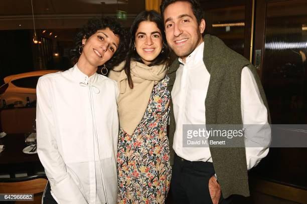 Yasmin Sewell Leandra Medine and Abie Cohen arrive as Topshop and Leandra Medine host dinner to celebrate London Fashion Week on February 19 2017 in...