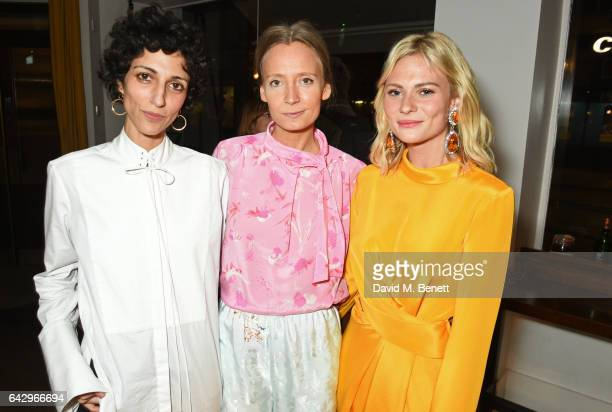 Yasmin Sewell Martha Ward and Pandora Sykes arrive as Topshop and Leandra Medine host dinner to celebrate London Fashion Week on February 19 2017 in...