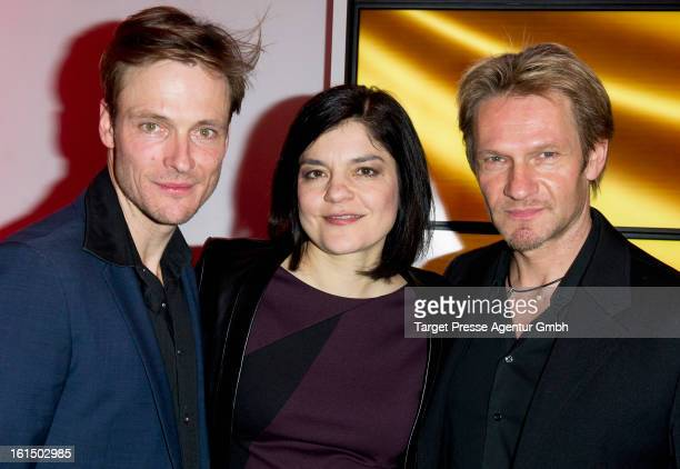 Yasmin Tabatabai Andreas Pietschmann and Thure Riefenstein attend the BMW aftershow party of the 'Deutscher Schauspielerpreis' during the 63rd...