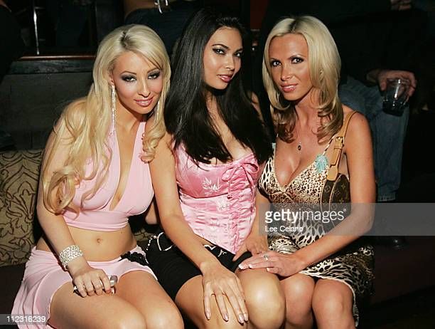 Yasmin Taylor Tera Patrick and Nikki Benz during Tera Patrick's 1st Annual Diva Las Vegas Party at TAO at Tao in Las Vegas Nevada United States