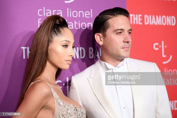 Yasmin Wijnaldum and GEazy attend Rihanna's 5th Annual Diamond Ball Benefitting The Clara Lionel Foundation at Cipriani Wall Street on September 12...