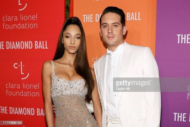 Yasmin Wijnaldum and GEazy attend the 5th Annual Diamond Ball benefiting the Clara Lionel Foundation at Cipriani Wall Street on September 12 2019 in...
