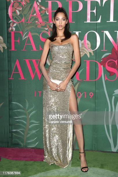 Yasmin Wijnaldum attends the Green Carpet Fashion Awards during the Milan Fashion Week Spring/Summer 2020 on September 22, 2019 in Milan, Italy.