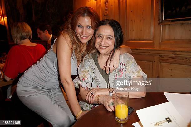 Yasmina Filali and Malika Filali attend 'Goldene Bild Der Frau' Award 2013 at the Axel Springer Haus on March 12 2013 in Berlin Germany