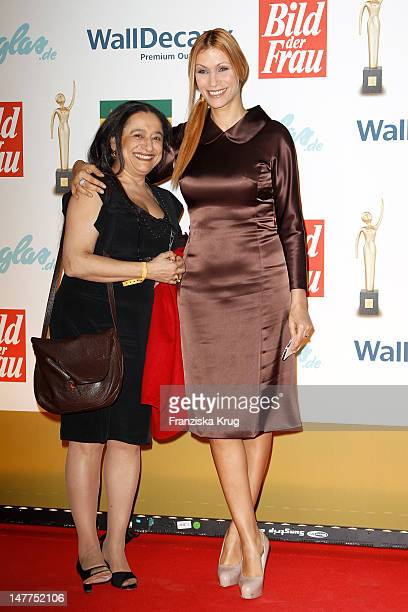 Yasmina Filali and Mama Malika attend the Golden wife Awards at the Axel Springer Haus on March 21 2012 in Berlin Germany