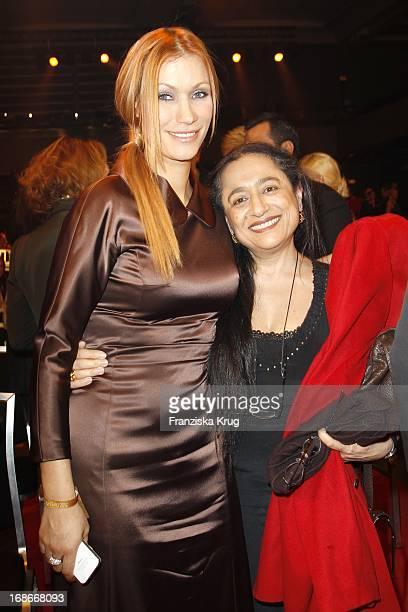 Yasmina Filali With Mother Malika At The Ceremony The Golden 'Bild Der Frau' Awards In UllsteinHalle in Berlin