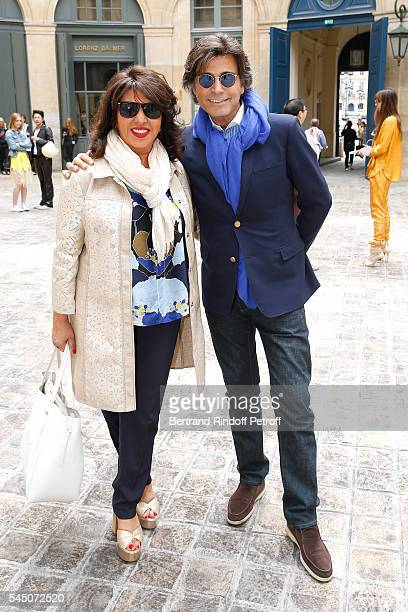 Yasmina Kepel and Alexandre Zouari attend the Alexis Mabille Haute Couture Fall/Winter 20162017 show as part of Paris Fashion Week on July 5 2016 in...