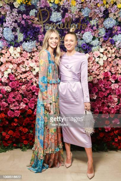 Yasmina Muratovich and Angelika Timanina attend Pomellato Event in Moscow on December 4 2018 in Moscow Russia