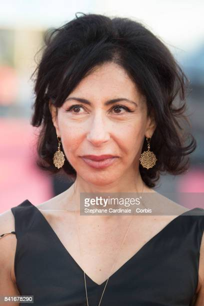 Yasmina Reza arrives at the Opening Ceremony of the 43rd Deauville American Film Festival on September 1 2017 in Deauville France