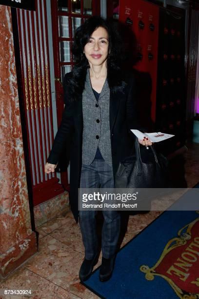 Yasmina Reza attends Depardieu Chante Barbara at Le Cirque D'Hiver on November 11 2017 in Paris France