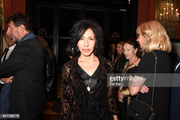 Yasmina Reza attends the Opening ceremony Dinner of the 43rd Deauville American Film Festival at Casino on September 1 2017 in Deauville France
