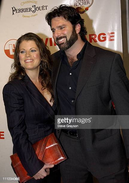 Yasmine Bleeth and Husband during Carmen Electra and Dave Navarro Engagement Party at The Pacific Design Center in West Hollywood California United...