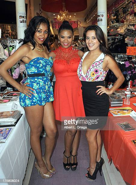 Yasmine De Leon Emy Reyes And Selma Sins Participate In Bizzy B Hosts Instore Signing Of