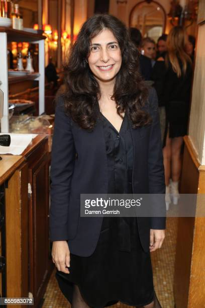 Yasmine Eslami attends a dinner in Paris to celebrate Another Magazine A/W17 hosted by Vivienne Westwood, Andreas Kronthaler, Jefferson Hack,...
