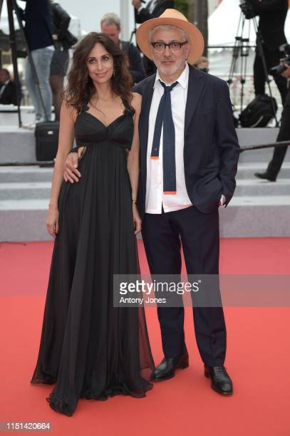 Yasmine Hamdan and Director Elia Suleiman attend the screening of It Must Be Heaven during the 72nd annual Cannes Film Festival on May 24 2019 in...
