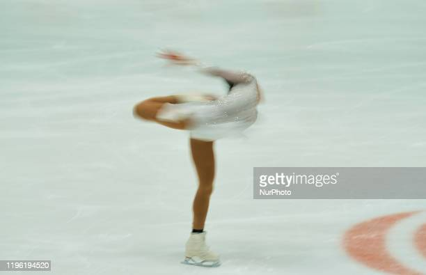 Yasmine Kimiko Yamada of Switzerland in action during Ladies Free Skating at ISU European Figure Skating Championships in Steiermarkhalle Graz...