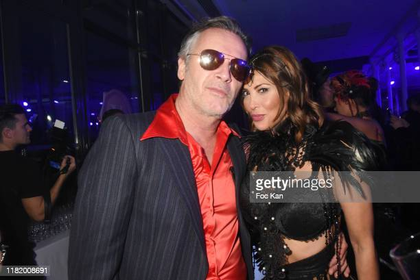 Yasmine Lafitte and TPMP TV presenter Jean Michel Maire attend the Bal Masque de Monsieur D At Pavillon d'Armenonville on October 18 2019 in Paris...