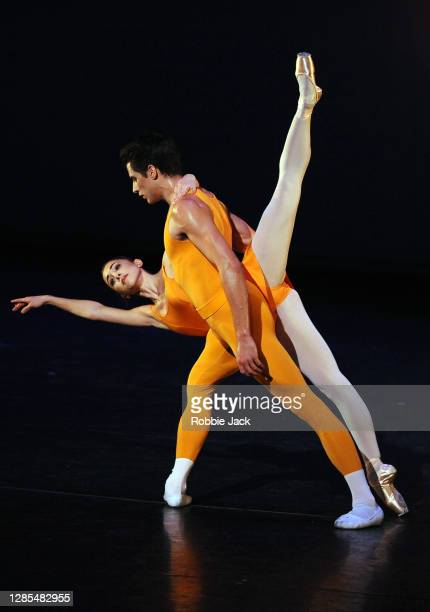 Yasmine Naghdi and Nicol Edmonds in The Royal Ballet's production of Concerto at The Royal Opera House on November 12, 2020 in London, England.