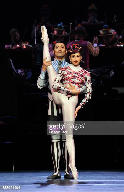 Yasmine Naghdi and Ryoichi Hirano in Kenneth MacMillan's Elite Syncopations at The Royal Opera House on October 18 2017 in London England