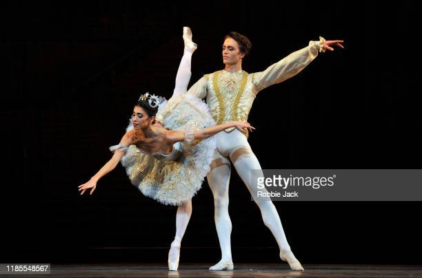 Yasmine Naghdi as Aurora and Matthew Ball as Prince Florimund in The Royal Ballet's production of Marius Petipa's The Sleeping Beauty at The Royal...